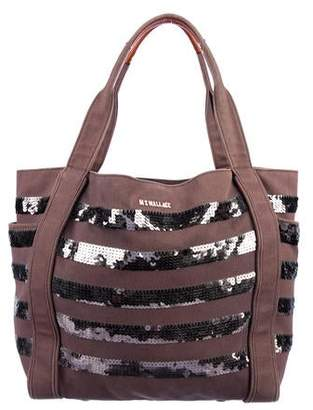 MZ Wallace Ava Sequin Canvas Tote