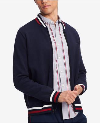 Tommy Hilfiger Men Big & Tall Regular-Fit Full-Zip Baseball Sweater