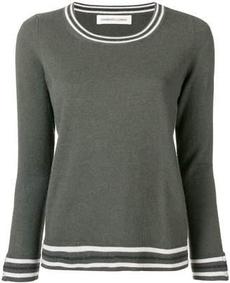 Lamberto Losani contrast-trim fitted sweater