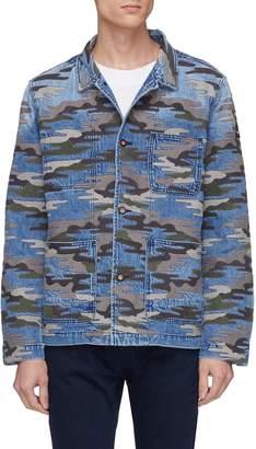 Denham Jeans 'Bruler' camouflage embroidered denim jacket