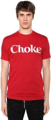 DSQUARED2 Choke Printed Cotton Jersey T-Shirt