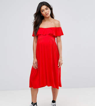 Bluebelle Maternity Bardot Midi Dress