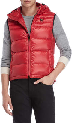 Blauer Red Hooded Puffer Vest