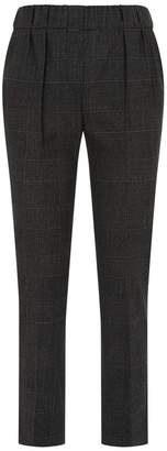 Brunello Cucinelli Check Print Trousers