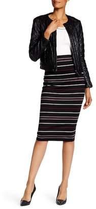 Max Studio Striped Ponte Midi Skirt $78 thestylecure.com
