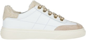 Hogan Shoes Leather Trainers Sneakers H340