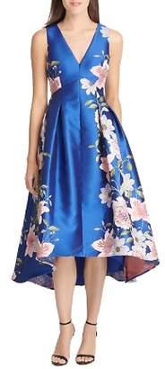 Eliza J High/Low Floral Jacquard Dress