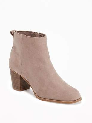 Old Navy Sueded Side-Zip Ankle Boots for Women
