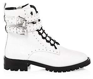 Rebecca Minkoff Women's Jaiden Stud Leather Combat Boots