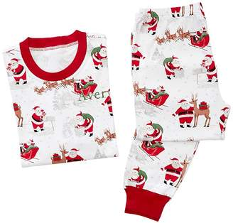 Pottery Barn Kids Adult Heritage Santa Cotton Tight Fit Pajama, XS