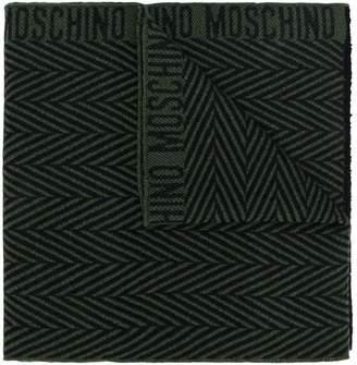 Moschino herringbone pattern scarf