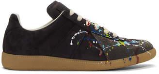 Maison Margiela Black Paint Splatter Replica Sneakers
