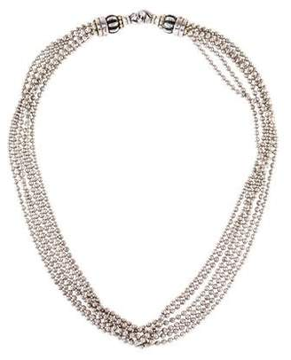 Lagos Two-Tone Multistrand Bead Chain Necklace