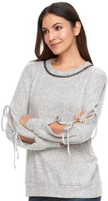 Juicy Couture Women's Tie Sleeve Sweatshirt
