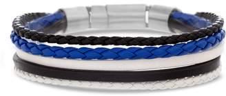 Ben Sherman Steel & Leather Bracelet