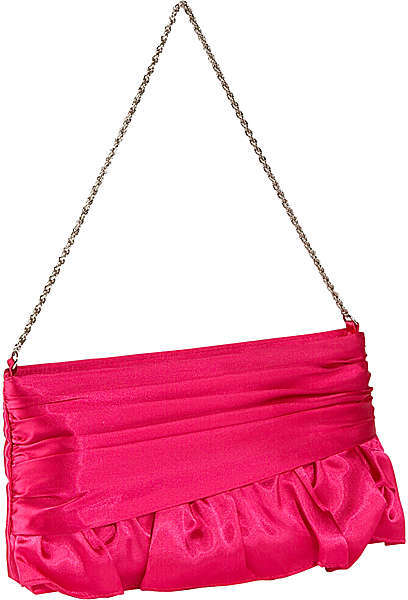 La Regale Satin Ruffel Handbag