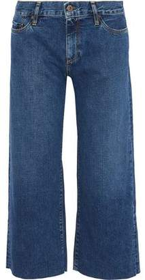 Simon Miller Caleta Cropped Mid-Rise Wide-Leg Jeans