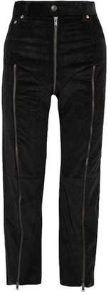 + Levi's Cropped Zip-Detailed Cotton-Corduroy Straight-Leg Pants