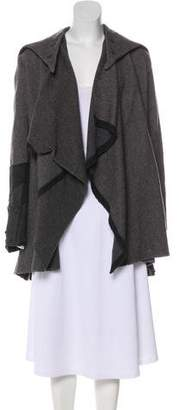 Greg Lauren Hooded Knee-Length Wool Coat