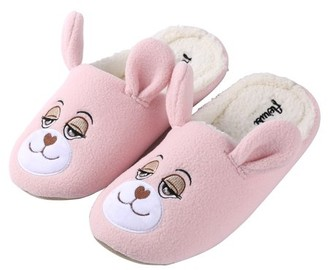 SUMACLIFE Kid's Flopsy Plush Teddy Bear Cozy House Slippers for Indoors