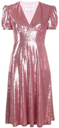 HVN sequinned midi dress