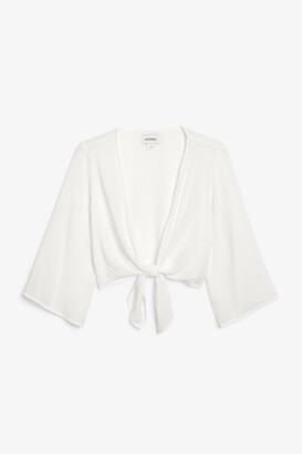 Monki Tie-front blouse