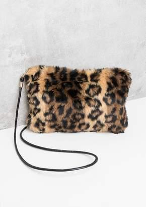 a3c569c30433 Missy Empire Missyempire Destiny Leopard Print Faux Fur Bag