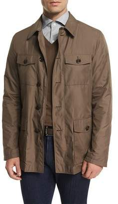 Ermenegildo Zegna Button-Down Safari Jacket, Beige $1,995 thestylecure.com