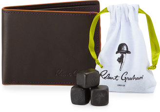 Robert Graham Slimfold Wallet & Whiskey Stone Gift Set, Brown $79 thestylecure.com