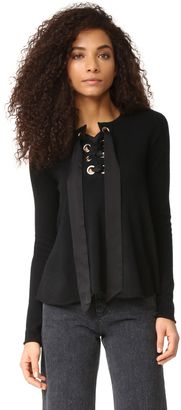 Autumn Cashmere Lace Up Flare Sweater $322 thestylecure.com