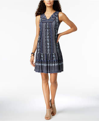 Style&Co. Style & Co Petite Sleeveless Printed Shift Dress