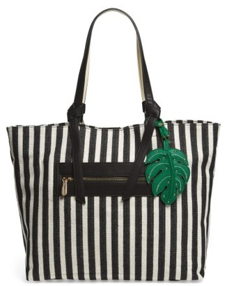 Tommy Bahama Royal Palms Striped Tote - Black $118 thestylecure.com