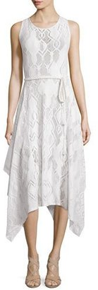 Fuzzi Sleeveless Crochet Hanky-Hem Dress $635 thestylecure.com