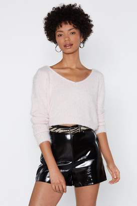 Nasty Gal Make Up For Lost Shine Faux Leather Shorts