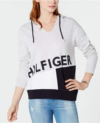 Tommy Hilfiger Hooded Logo-Print Sweatshirt