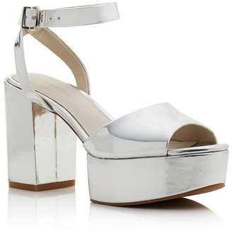 Kenneth Cole Women's Phoenix Leather Platform Ankle Strap Sandals