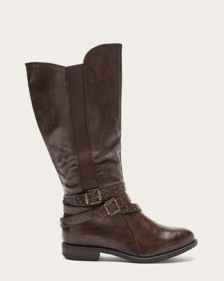 Penningtons Extra Wide Calf Tall Boots with Buckles and Studs