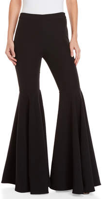 Milly Crepe Flared Pants
