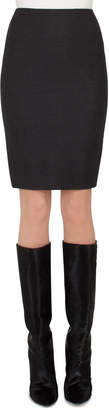 Akris Flannel Stretch-Wool Mini Pencil Skirt