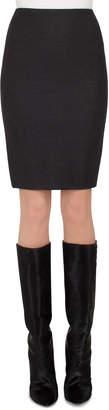Akris Flannel Stretch-Wool Mini Pencil Skirt