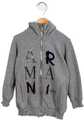 Armani Junior Girls' Embellished Hooded Sweatshirt