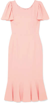 Dolce & Gabbana Ruffled Cady Midi Dress - Pink