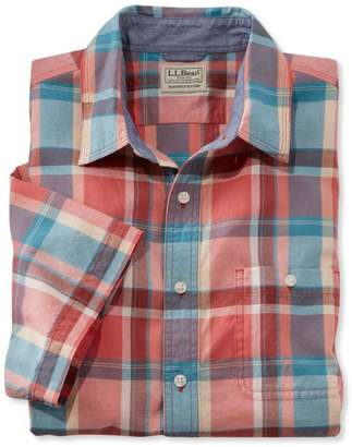 L.L. Bean L.L.Bean Madras Shirt, Slightly Fitted Short-Sleeve