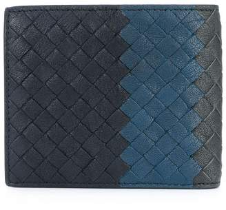 Bottega Veneta sapphire blue Intrecciato lamb club bi-fold wallet