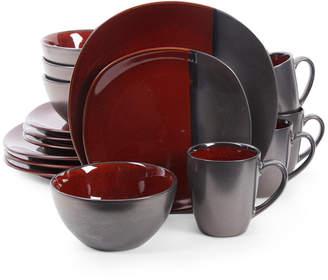 Gibson Elite Volterra Red 16-Piece Dinnerware Set