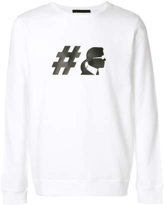 Karl Lagerfeld Hashtag sweatshirt