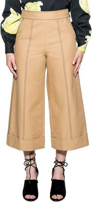 MSGM Tobacco Cropped Trousers