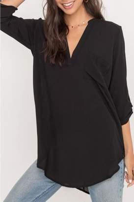 Lush Black Tunic Top