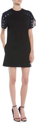 Calvin Klein Snap Short-Sleeve A-Line Cotton Dress