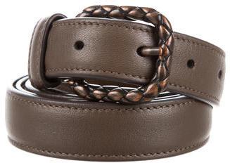 Bottega VenetaBottega Veneta Intrecciato-Accented Leather Belt
